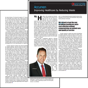 "Image for Accumen Featured in CIO Review ""50 Most Promising Healthcare Solution Providers"""