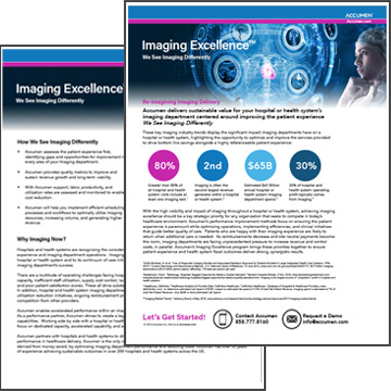 Image for Imaging Excellence Brochure