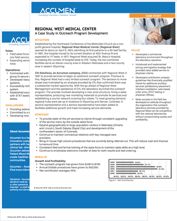 Image for Regional West Medical Center: Outreach Program Development