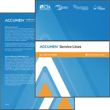 All Accumen Service Line Overview