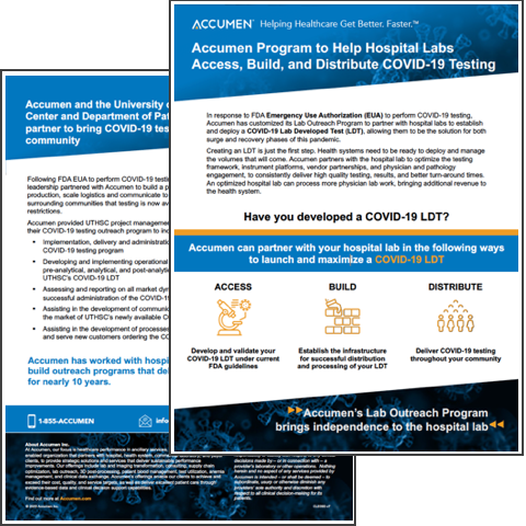 Image for Accumen Program to Help Hospital Labs Access, Build, and Distribute COVID-19 Testing