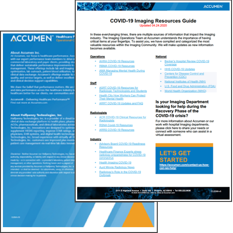 Image for COVID-19 Imaging Resources Guide