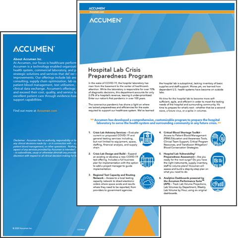 Image for Hospital Lab Crisis Preparedness Program Overview