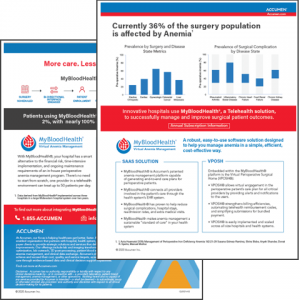 <strong>Downloadable Brochure:</strong> MyBloodHealth® A Virtual Anemia Management Software Overview